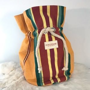 L'Occitane Provence Cosmetic Bag French Stripes
